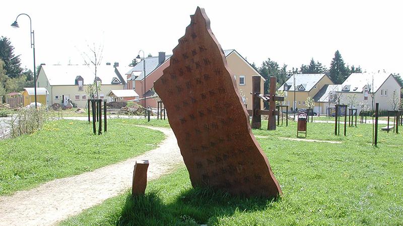 public sculpture, Beaufort, Luxembourg, 2002